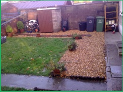 garden after the oil spill has been cleaned up
